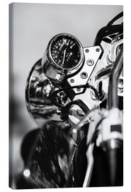 Canvas-taulu  Speedometer of a motorcycle