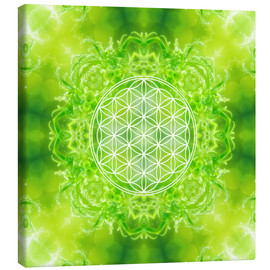 Canvas-taulu  Flower of Life - Healing Power of Nature - Dolphins DreamDesign
