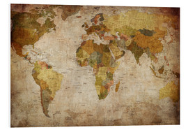 PVC-taulu  Vintage World Map