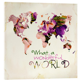 Akryylilasitaulu  What a wonderful world (Map) - Mandy Reinmuth
