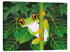 Canvas-taulu  Hold on tight little frog! - Kidz Collection