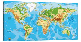 Canvas-taulu  Map of the world