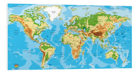 PVC-taulu  Map of the world