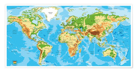 Juliste  Map of the world