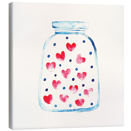 Canvas-taulu  Love in a glass - Kidz Collection
