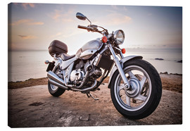 Canvas-taulu  Motorbike by the sea