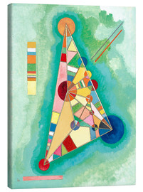 Canvas-taulu  Stained in Triangle - Wassily Kandinsky
