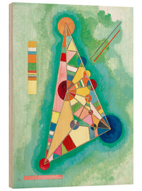 Puutaulu  Stained in Triangle - Wassily Kandinsky