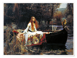 Juliste  The Lady of Shalott - John William Waterhouse