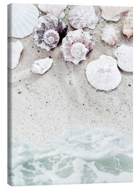 Canvas-taulu  Sea Beach with Shells