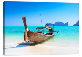 Canvas-taulu  Long boat in Thailand