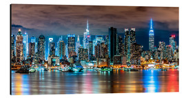 Alumiinitaulu  Midtown Skyline by Night, New York - Sascha Kilmer