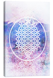 Canvas-taulu  Flower Of Life - Moon Berry Prints