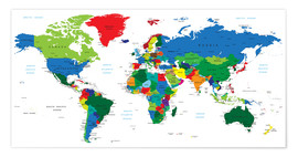 Juliste  World political map (2006)