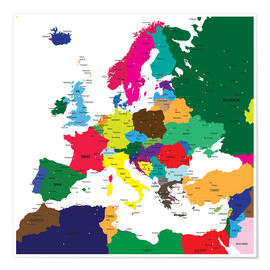 Juliste  Europe - Political Map