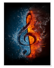 Juliste Fire and water music