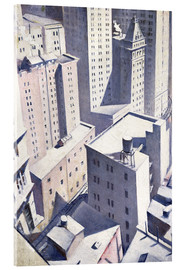 Akryylilasitaulu  Looking Down on Downtown - Christopher Nevinson