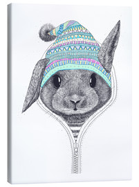 Canvas-taulu  Bunny with a hood - Valeriya Korenkova