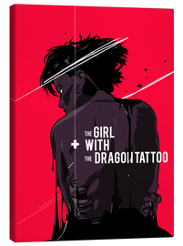 Canvas-taulu  The Girl with The Dragon Tattoo - Fourteenlab