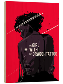 Puutaulu  The Girl with The Dragon Tattoo - Fourteenlab
