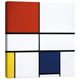 Canvas-taulu  Composition c no iii with red yellow and blue - Piet Mondriaan