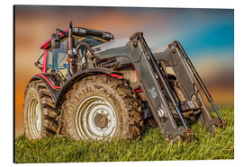 Alumiinitaulu  Tractor with front loader - Peter Roder