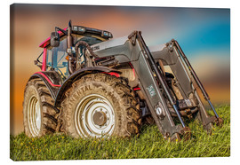 Canvas-taulu  Tractor with front loader - Peter Roder