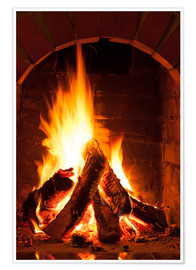 Juliste  Wood in the fireplace