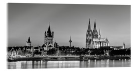 Akryylilasitaulu  Magnificent Cologne black and white - Michael Valjak