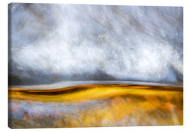 Canvas-taulu  Abstract Silver and Gold - Sander Grefte
