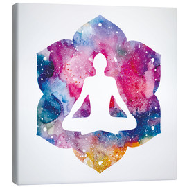 Canvas-taulu  Lotus position Water Color