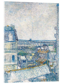 Akryylilasitaulu  View from the Artist's Window, Rue Lapic - Vincent van Gogh