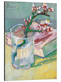 Alumiinitaulu  Flowering almond branch in a glass with a book - Vincent van Gogh