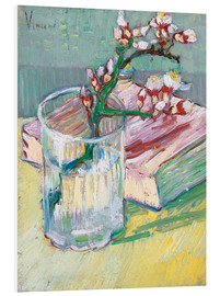 PVC-taulu  Flowering almond branch in a glass with a book - Vincent van Gogh