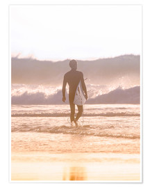 Juliste Lonely surfer on the beach