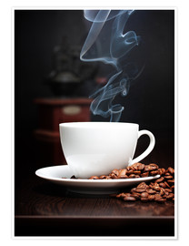 Juliste Steaming coffee cup