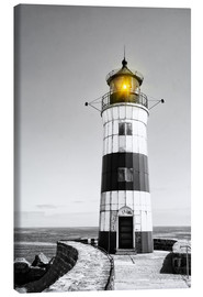 Canvas-taulu  Lighthouse with yellow light