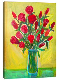 Canvas-taulu  Red roses III - Diego Manuel Rodriguez