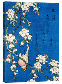 Canvas-taulu  Bullfinch and weeping cherry - Katsushika Hokusai