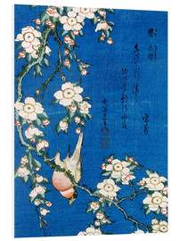 PVC-taulu  Bullfinch and weeping cherry - Katsushika Hokusai