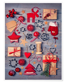 Juliste  Christmas deco auf dem wooden background - Elena Schweitzer