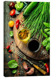 Canvas-taulu  Healthy bio vegetables and spices