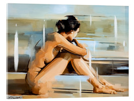 Akryylilasitaulu  In thought - Johnny Morant