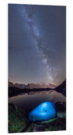 PVC-taulu  Panoramic of Milky Way on Mont Blanc, France - Roberto Sysa Moiola