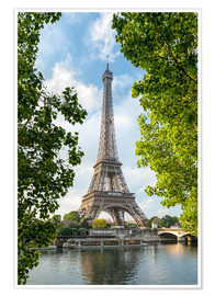 Juliste Eiffel Tower on the Seine River, Paris, France