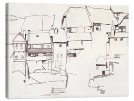Canvas-taulu  Old houses in Krumau - Egon Schiele