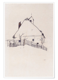 Juliste  Residential house with fence - Egon Schiele