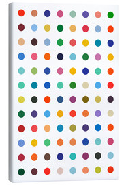 Canvas-taulu  Damien Tribute - Colourful polkadots - THE USUAL DESIGNERS