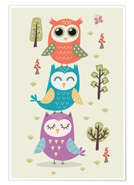 Juliste Three owls