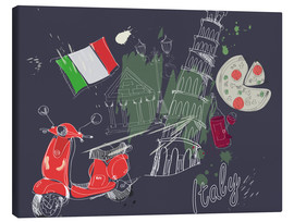 Canvas-taulu  Let's go to Italy!